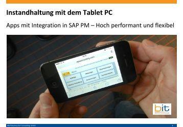 Mobile Instandhaltung mit dem Tablet PC bzw. iPad / IOS