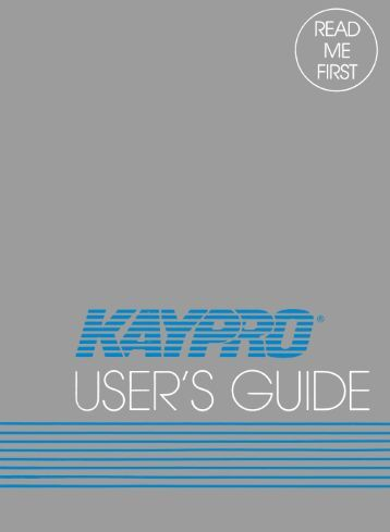 Kaypro II User Manual - The MESSUI Place