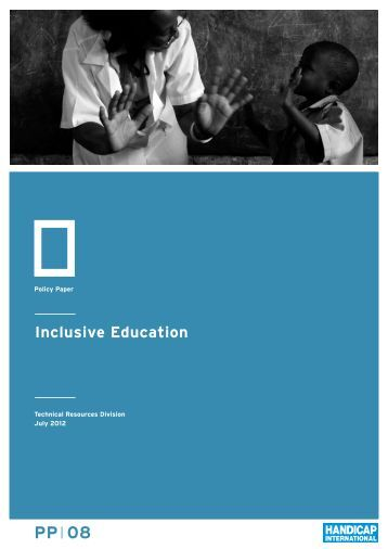 Inclusive Education : Policy paper - Hiproweb.org