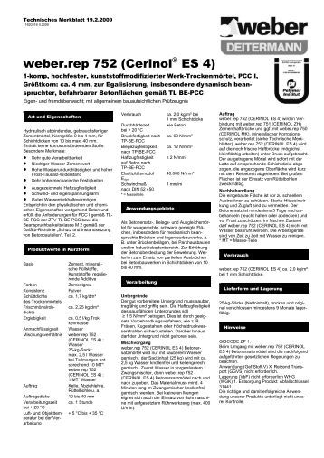 weber.rep 752 (Cerinol® ES 4) - Saint-Gobain Weber GmbH