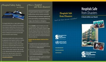 Hospitals Safe from Disasters - DISASTER info DESASTRES