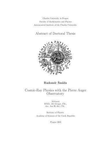 Doctoral Thesis In Psychology