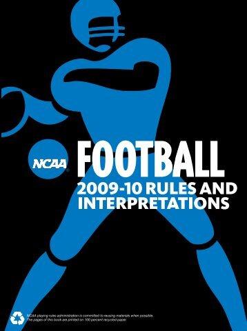 Ncaa football uniform regulations