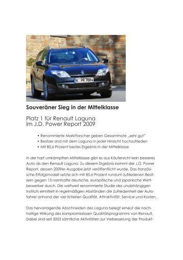 Souveräner Sieg in der Mittelklasse Platz 1 für Renault ... - Mobil-Sein