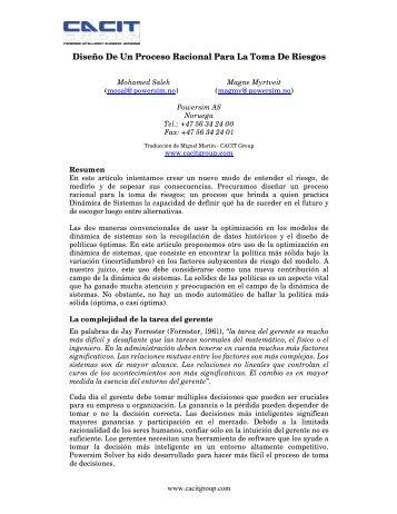 Diseño de un Proceso Racional - Cacit Group