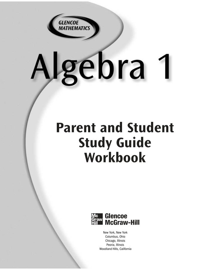 Glencoe Mcgraw Hill Algebra Worksheet Answers 2422615 Virtualdirfo