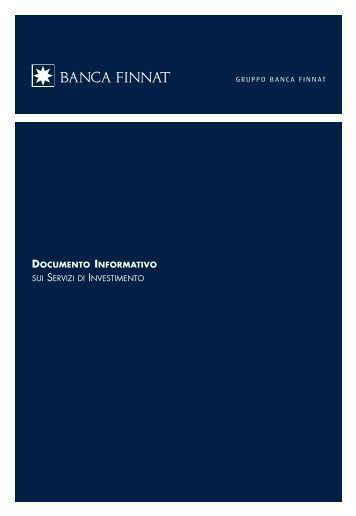 documento informativo sui servizi di investimento - Banca Finnat