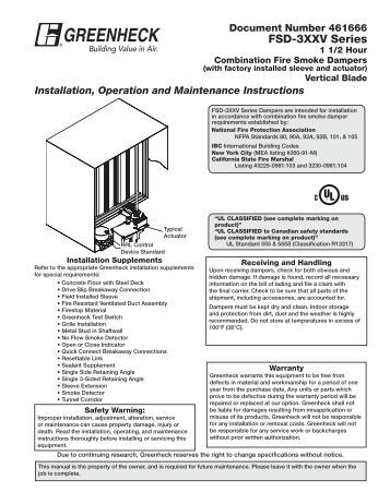 fire damper installation instructions