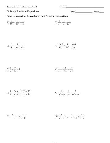 All Worksheets » Kuta Worksheets Algebra - Childern and Parenting ...