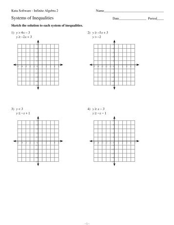 Printables Systems Of Inequalities Worksheet system of inequalities worksheet davezan systems kerriwaller