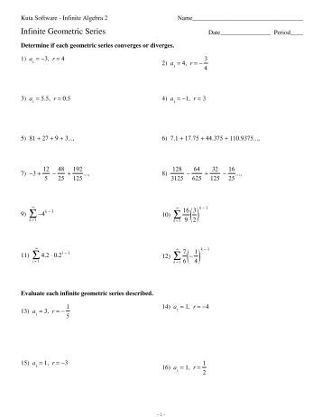 Kuta software 4 3 arithmetic and geometric sequences worksheet