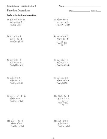 Function Notation Worksheet Pdf Kuta - function notation worksheet ...
