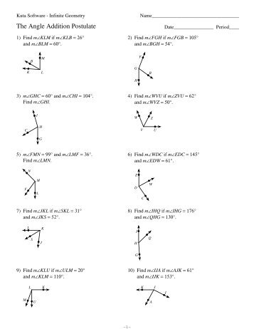 Find the missing angle worksheet kuta