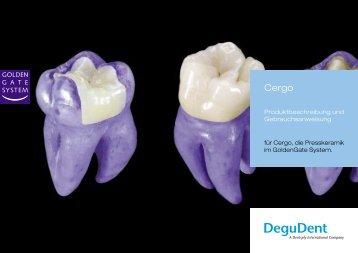 Cergo Gebrauchsanweisung - DeguDent GmbH