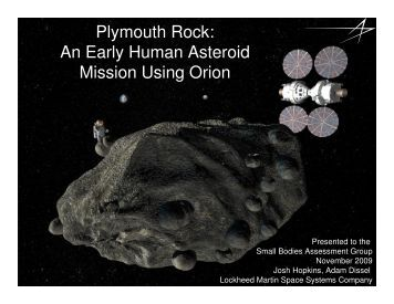 Plymouth Rock: An Early Human Asteroid Mission Using Orion