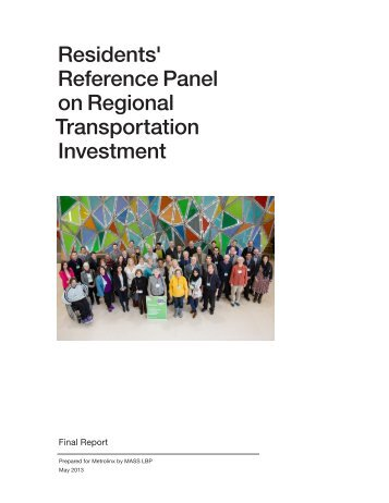 Report of Residents' Reference Panel - Metrolinx