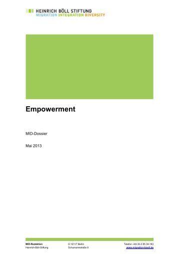 Dossier Empowerment - Migration - Integration - Diversity