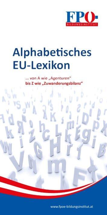 Alphabetisches EU-Lexikon