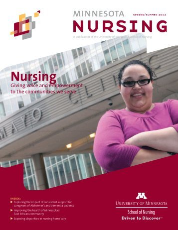 Minnesota Nursing Magazine Spring/Summer 2012 - School of ...