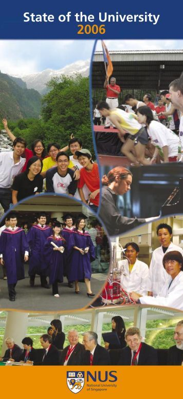 Download State of the University 2006 report - NUS - Home