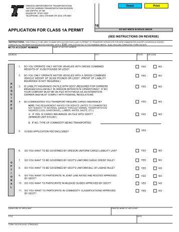 Oregon Motor Carrier Registration Tax Manual Download Pdf