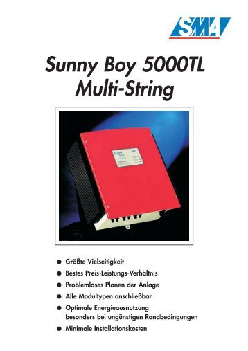 sunny boy 4000tl sunny boy 5000tl sb 4000tl 20 sb. Black Bedroom Furniture Sets. Home Design Ideas