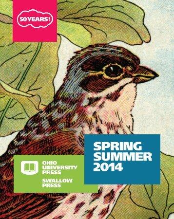 Ohio University Press Spring Summer 2014 Catalog