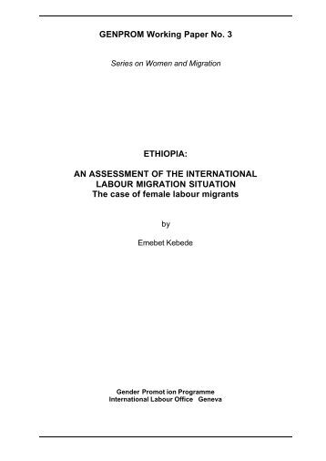international labor wiu essay The international labour organization the international labour organization (ilo) is devoted to advancing opportunities for women and men to obtain decent and .