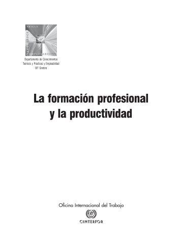 La formación profesional y la productividad - OIT/Cinterfor