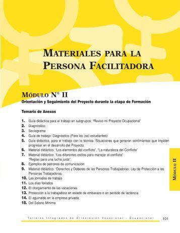 Materiales para la persona facilitadora - OIT/Cinterfor