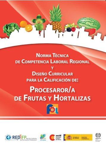 Procesador/a de frutas y hortalizas - OIT/Cinterfor