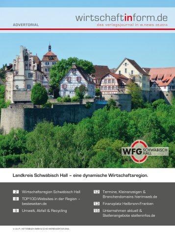 Wirtschaftsregion Schwäbisch Hall | wirtschaftinform.de 05.2014