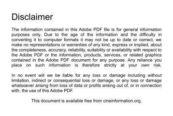 Kodak - Instamatic M2 - User Manual - Cine Information