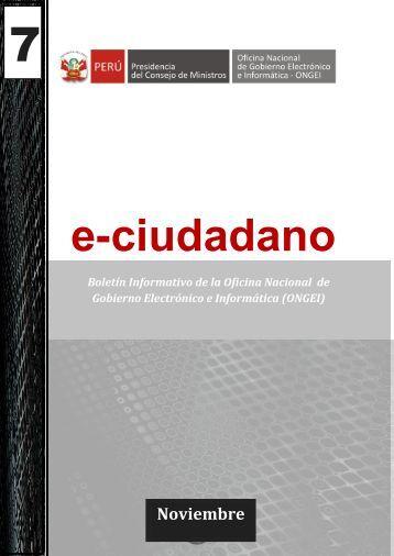 Boletín de Gobierno Electrónico Nº 319 - Noviembre 2012 - ONGEI