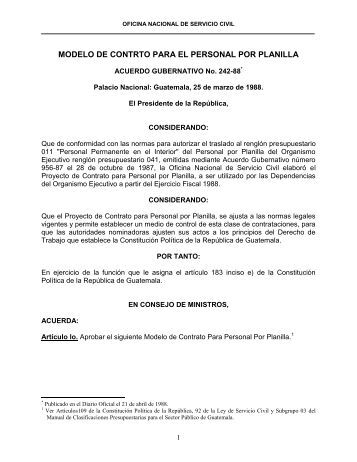Informe 2 Regimen De Contrato De Trabajo Para Personal De