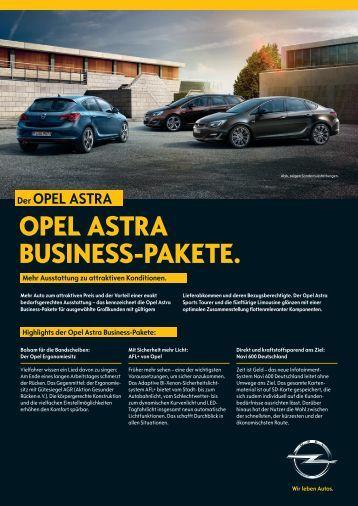 Businesspaket Astra - Opel