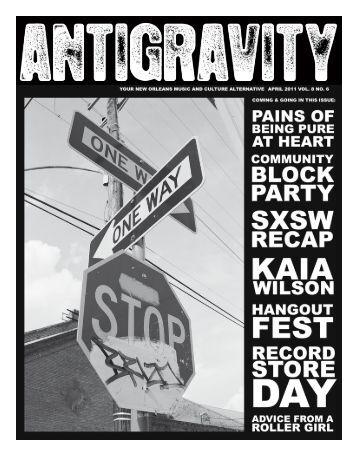 April 2011 (PDF) - Antigravity Magazine