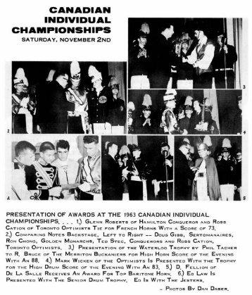 Canadian Individual Results (1963) - Optimists Alumni Association