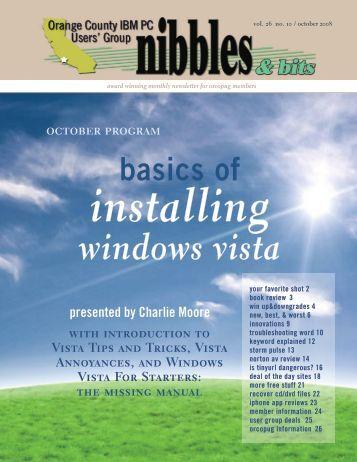 Oct. 2008 - Orange County IBM PC Users' Group