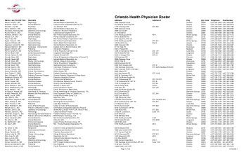 Name, Last First MI Title - Orlando Health