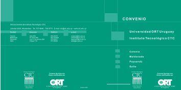 folleto - Universidad ORT Uruguay