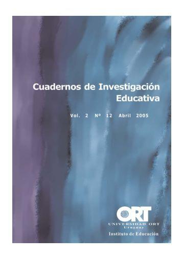 Cuadernos de Investigación Educativa - Universidad ORT Uruguay