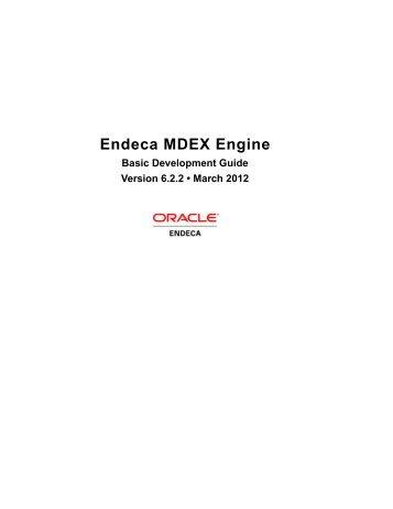 Endeca MDEX Engine: Basic Development Guide - Oracle ...