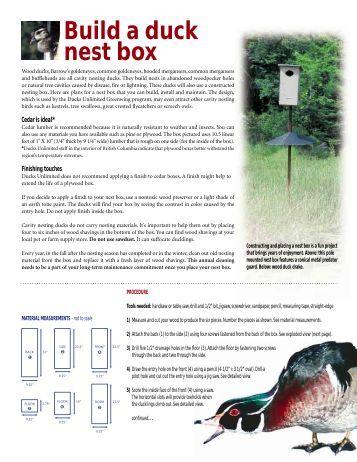 Download Build A Duck Nest Box - Ducks Unlimited
