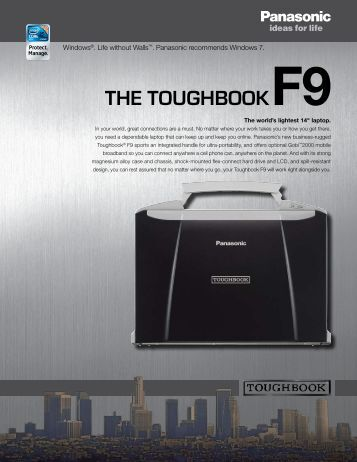 THE TOUGHBOOKF9 - Panasonic