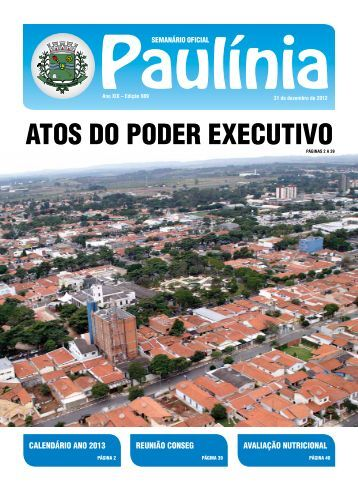 AtOS dO pOdER ExECutIvO - Prefeitura Municipal de Paulínia