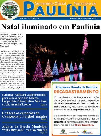 Natal iluminado em Paulínia - Prefeitura Municipal de Paulínia ...