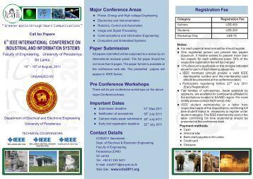 Brochure - University of Peradeniya