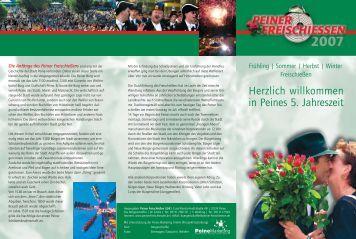 Herzlich willkommen in Peines 5. Jahreszeit - Peiner Freischiessen