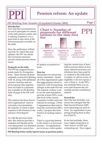 PPI Briefing Note 18 - Updated Oct05 - Pensions Policy Institute